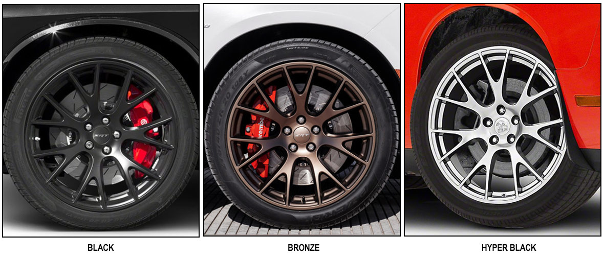 image showing different colors of original wheels